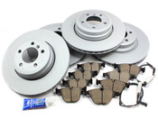 BMW Brake Kit - Zimmermann/Akebono 34116750267KTFR3