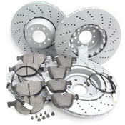 BMW Brake Kit - Zimmermann/Textar 34112282805KTFR2