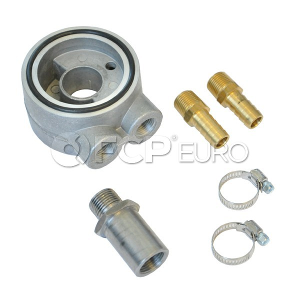 Audi VW Thermostatic Sandwich Oil Filter Adapter - 034Motorsport 034-110-Z003