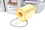 BMW 5W30 Oil Change Kit - Liqui Moly 11427512300KT7