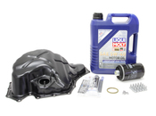 Audi VW Oil Pan Kit with Oil - Vaico / Liqui Moly 06H103600AAKT2