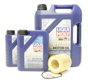 BMW 5W40 Oil Change Kit - Liqui Moly 11427854445KT6
