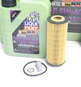 Mercedes Oil Change Kit 5W-40 - Liqui Moly Molygen 2781800009.9L.V1