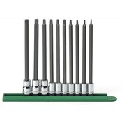"10 Pc. 1/4"" & 3/8"" Drive Long Torx® Bit Socket Set - Gearwrench 80588"