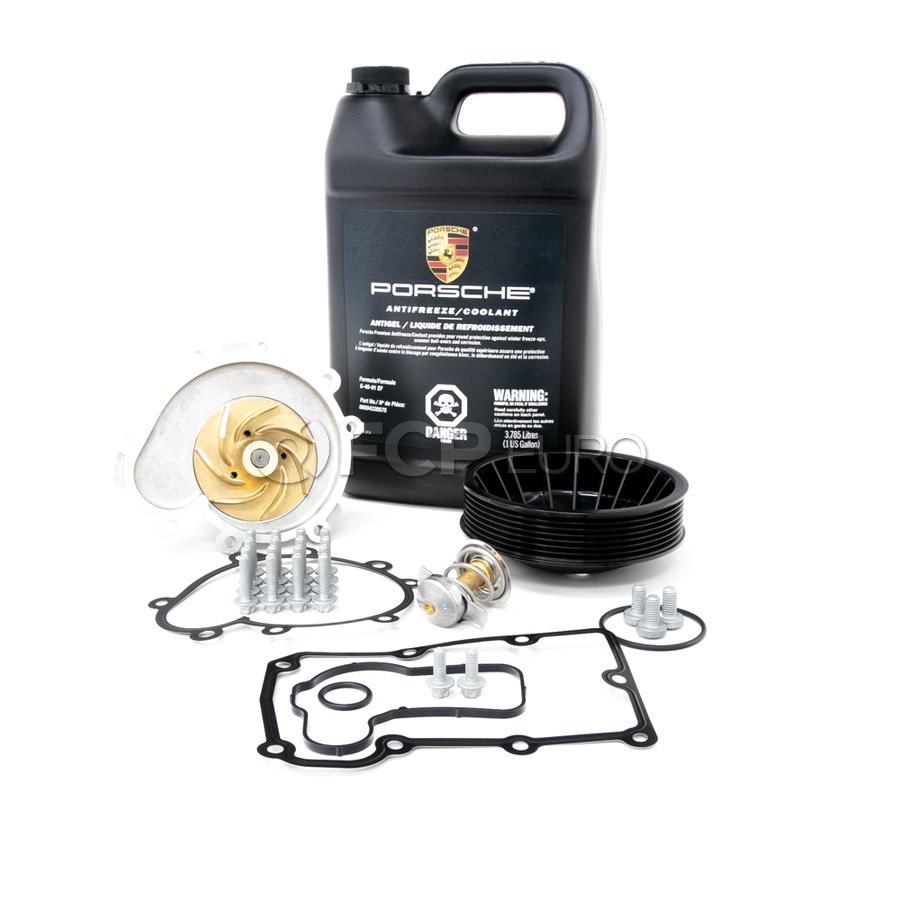 Porsche Engine Water Pump and Thermostat Kit - Graf/Elring/Genuine 955COOLKT1
