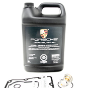Porsche Engine Coolant Thermostat Kit - Genuine/Elring 99610612572KT