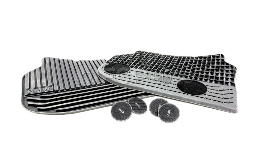 BMW Black All-Weather Floor Mat Set Rear (F10) - Genuine BMW 51472153889